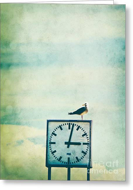 Period Mixed Media Greeting Cards - Time Watcher Greeting Card by Angela Doelling AD DESIGN Photo and PhotoArt