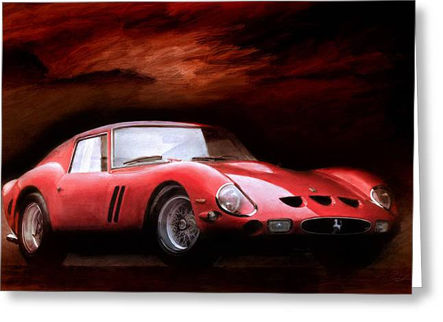 Ferrari Gto Classic Car Greeting Cards - Timeless 250 GTO Greeting Card by Peter Chilelli