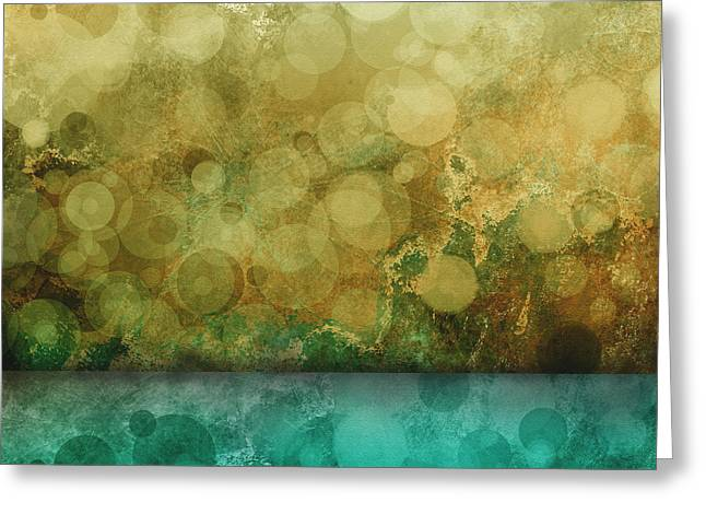 Moss Green Greeting Cards - Timeless abstract art Greeting Card by Ann Powell