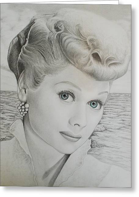 I Love Lucy Greeting Cards - Timeless Beauty 2 Greeting Card by Brent  Mileham