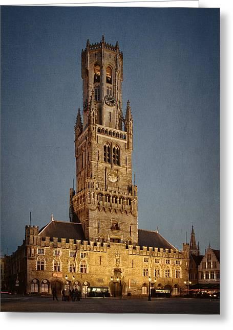 Timeless Bruges Belfort Greeting Card by Joan Carroll