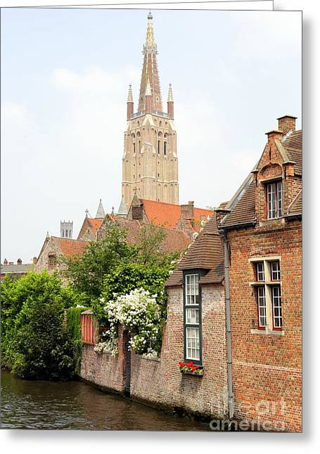 Medieval City Greeting Cards - Timeless Bruges Greeting Card by Carol Groenen