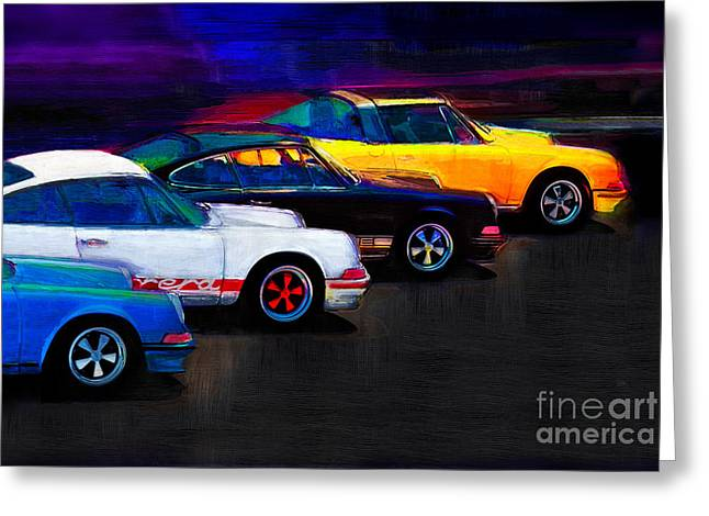 Timeless Classics Greeting Card by Alan Greene