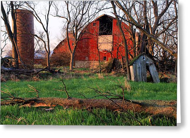 Tom Druin Greeting Cards - Timeless-color-barns Greeting Card by Tom Druin
