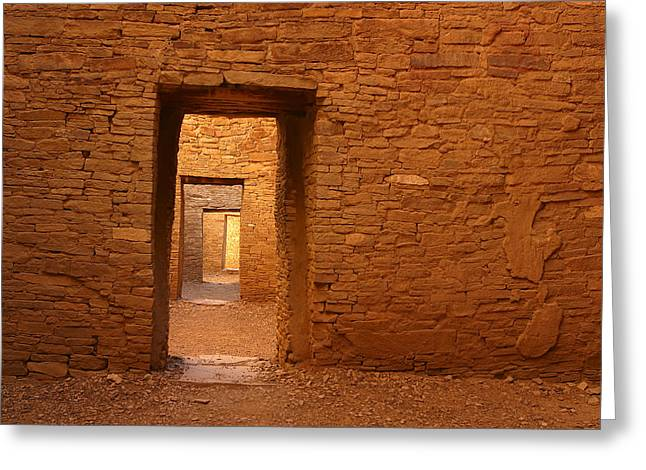 Chaco Canyon Greeting Cards - Timeless Doorways Greeting Card by Allen W Sanders