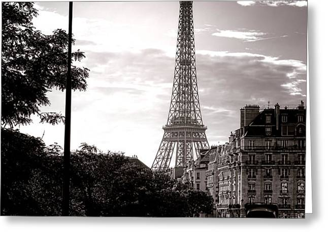 Timeless Eiffel Tower Greeting Card by Olivier Le Queinec