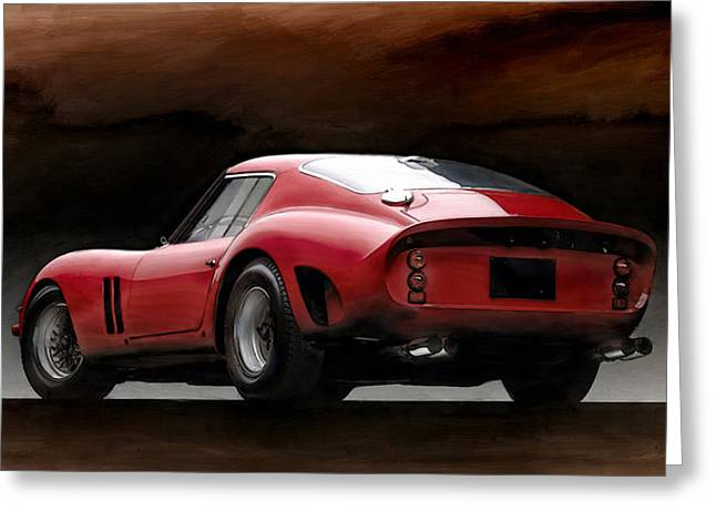 Ferrari Gto Classic Car Greeting Cards - Timeless Ferrari Greeting Card by Peter Chilelli