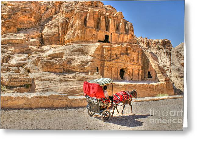 Timeless In Petra Greeting Card by David Birchall