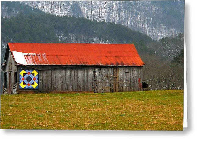 Red Roofed Barn Greeting Cards - Timeless Greeting Card by Michael Eingle