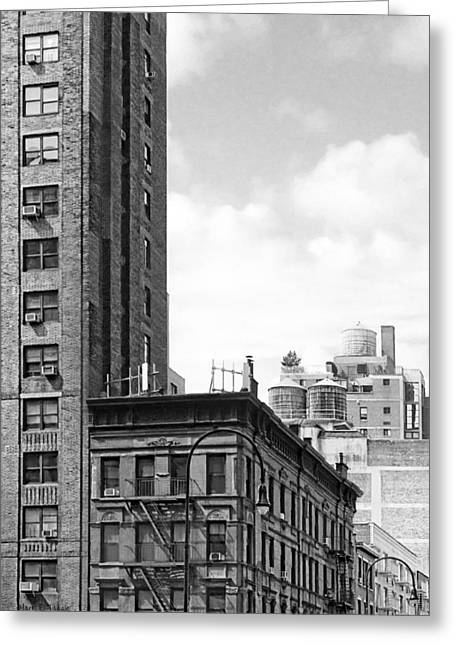 Chelsea Greeting Cards - Timeless New York City Rooftops - 7th Avenue Greeting Card by Mark Tisdale