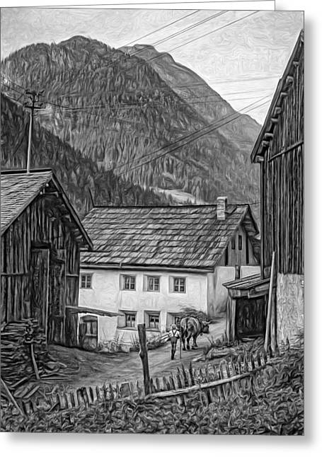 Shed Digital Greeting Cards - Timeless - Paint bw Greeting Card by Steve Harrington