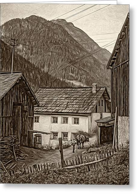 Shed Digital Art Greeting Cards - Timeless - Paint sepia Greeting Card by Steve Harrington