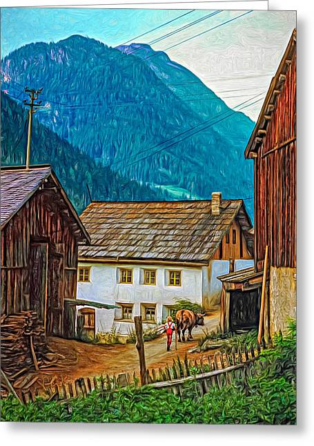 Shed Digital Greeting Cards - Timeless - Paint Greeting Card by Steve Harrington