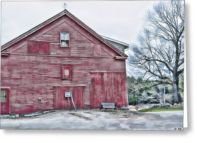 Old Maine Barns Greeting Cards - Timeless Greeting Card by Richard Bean