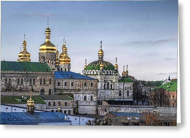 Kyiv Greeting Cards - Timeless The Lavra in October Greeting Card by Matthew Shalvatis