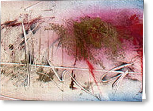 Abstract Expressionist Greeting Cards - Timeline Greeting Card by Jeannette Debonne