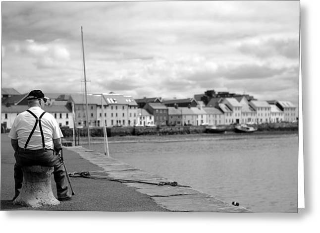 Old Man And The Sea Greeting Cards - Timeout in Galway Greeting Card by Patrick Dinneen