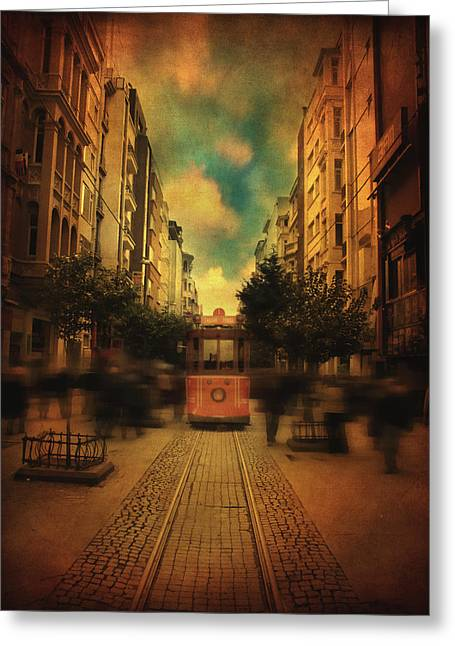 Long Street Greeting Cards - Timepiece Greeting Card by Taylan Soyturk