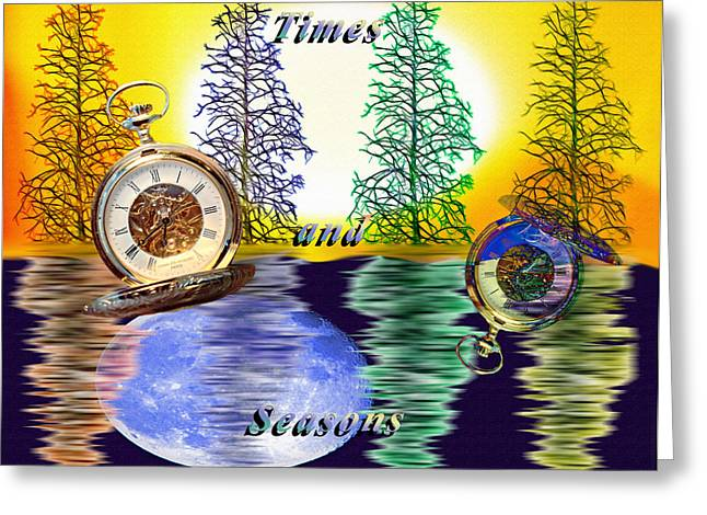 Digital Finished Mixed Media Greeting Cards - Times and Seasons - Collage Greeting Card by Steve Ohlsen