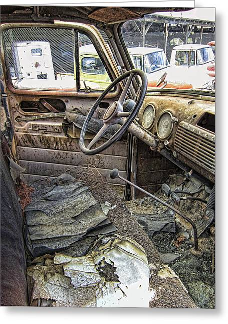 Old Trucks Greeting Cards - Times Oppressive Toll Greeting Card by Daniel Hagerman