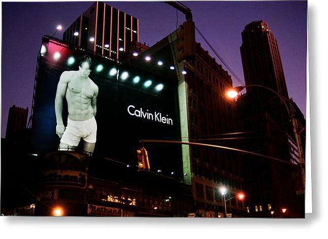 Theatre Billboard Greeting Cards - Times Square and Calvin Klein Greeting Card by Joann Vitali