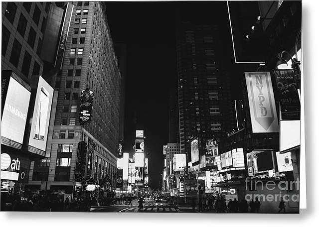 Chelsea Greeting Cards - Times Square Greeting Card by Art K