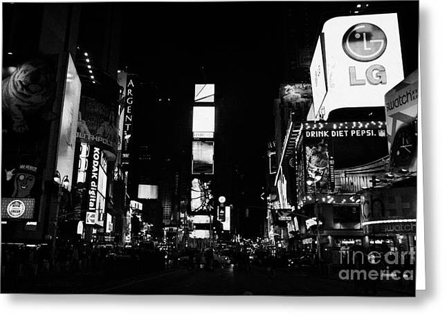 Manhaten Greeting Cards - Times Square At Night New York City Usa Manhattan Greeting Card by Joe Fox