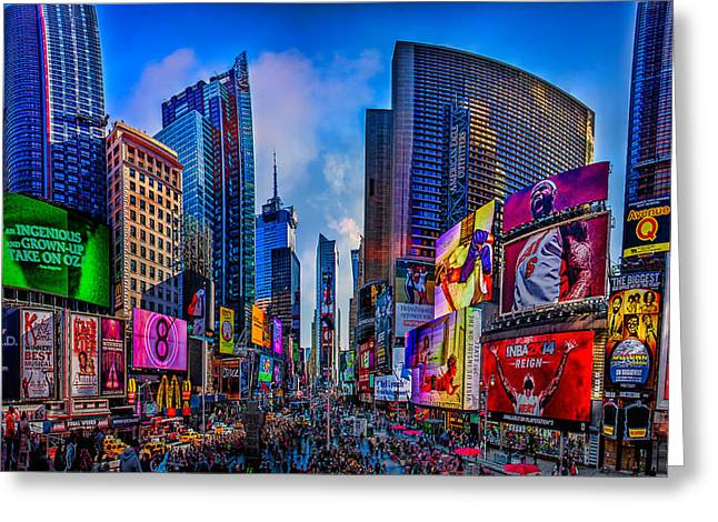 Times Square Digital Art Greeting Cards - Times Square Greeting Card by Chris Lord
