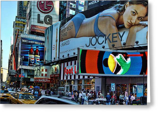 Runner Boards Greeting Cards - Times Square Energy Greeting Card by New York