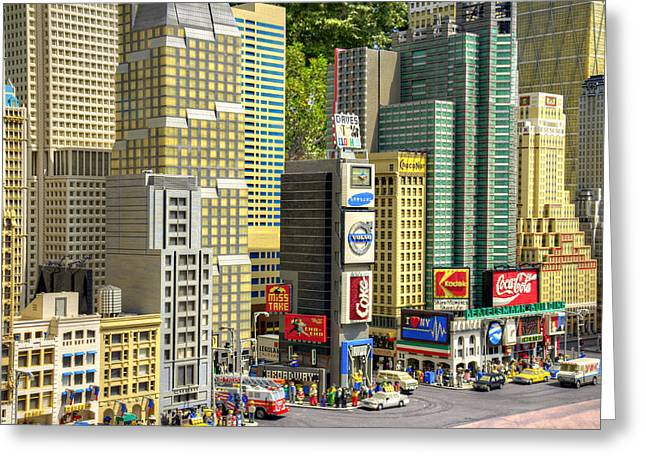 Lego Greeting Cards - Times Square II Greeting Card by Ricky Barnard