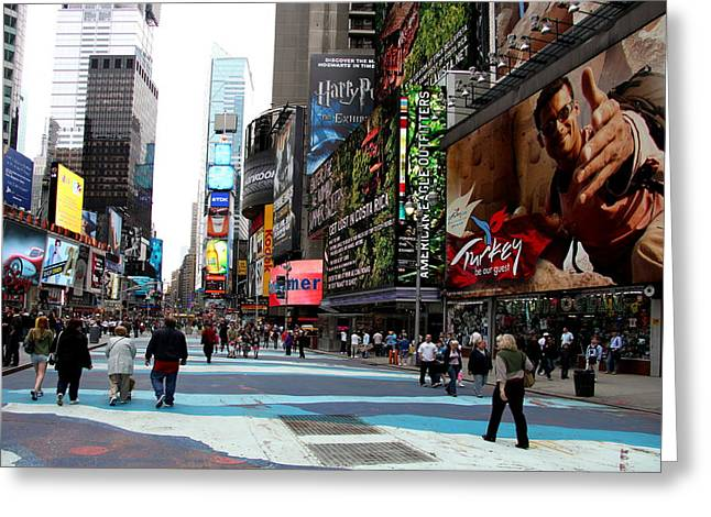Illuminate Greeting Cards - Times Square Impression Greeting Card by Christiane Schulze Art And Photography