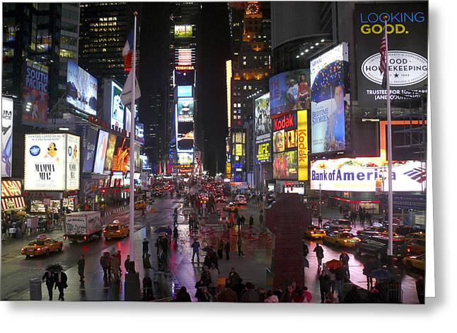 Mike Mcglothlen Greeting Cards - Times Square Greeting Card by Mike McGlothlen