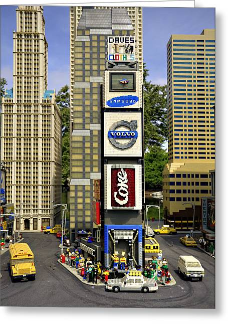 Times Square Greeting Card by Ricky Barnard