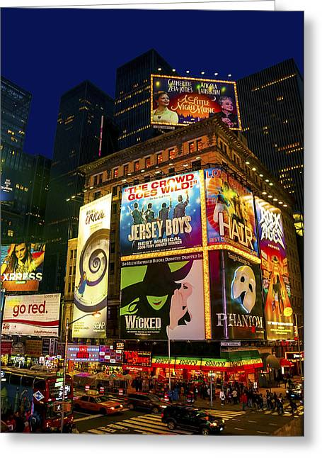 Svetlana Sewell Greeting Cards - Times Square Greeting Card by Svetlana Sewell
