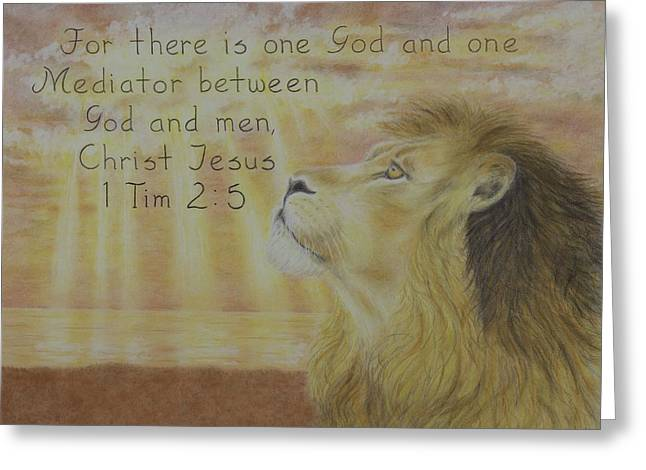 Scripture Pastels Greeting Cards - Timothy Greeting Card by Christine Brunette