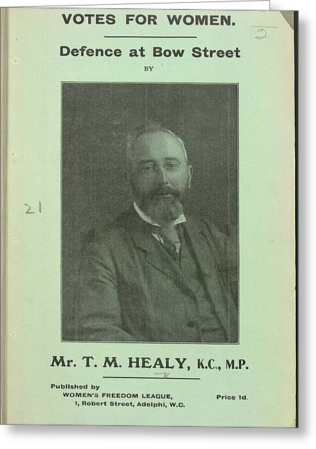 Timothy Michael Healy Greeting Card by British Library