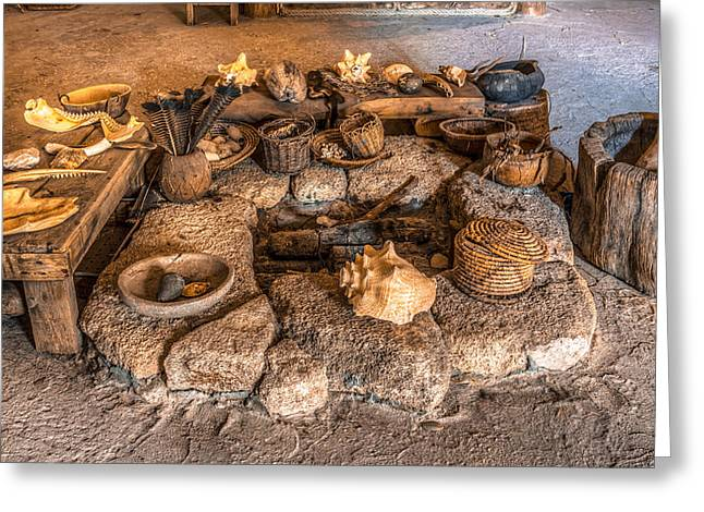 Firepit Greeting Cards - Timucuan Fire Pit Greeting Card by Rob Sellers