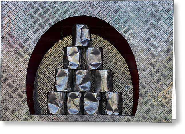 Metal Sheet Greeting Cards - Tin can alley Greeting Card by Intensivelight
