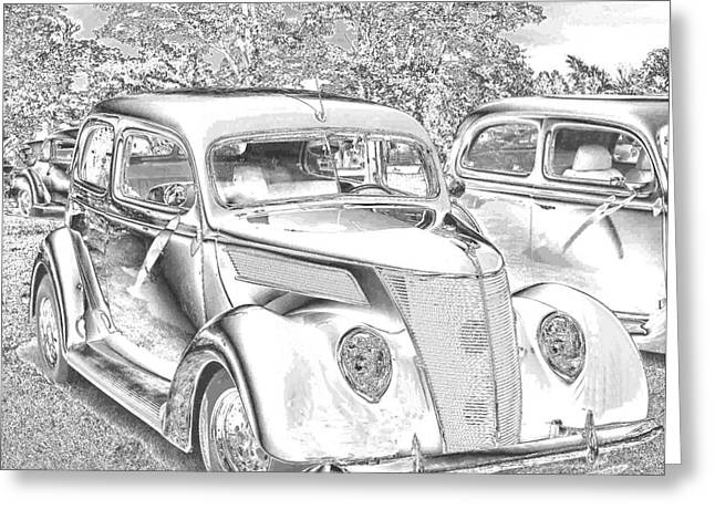 Tin Lizzie Ford Greeting Card by Luther   Fine Art