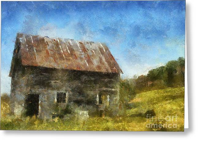 Shed Digital Greeting Cards - Tin roof Greeting Card by David Jackson