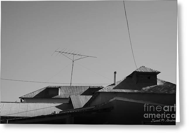 Tin Rooftops Chimayo New Mexico Greeting Card by David Gordon