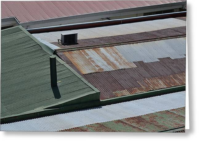 Bill Mock Greeting Cards - Tin Rooftops of San Jose Greeting Card by Bill Mock