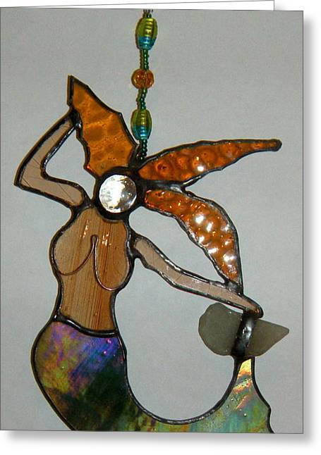 Lady Glass Greeting Cards - Tina Greeting Card by Nora Solomon