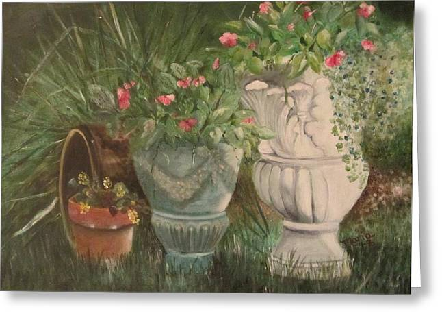 Inpatients Greeting Cards - Tina Place Garden Greeting Card by Maria Milazzo