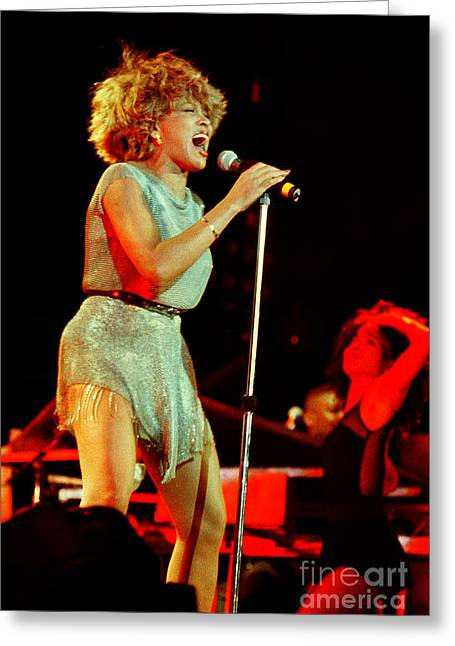 Tina Turner Greeting Cards - Tina Turner - 0445 Greeting Card by Gary Gingrich Galleries