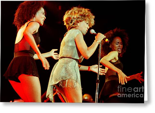 Tina Turner Greeting Cards - Tina Turner - 0453 Greeting Card by Gary Gingrich Galleries