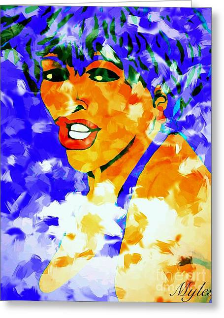 Tina Turner Greeting Cards - Tina Turner Soft and Free  Greeting Card by Saundra Myles
