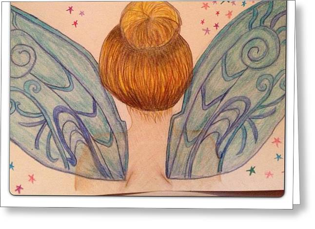 Recently Sold -  - Ghostly Greeting Cards - Tinker Bell Greeting Card by Oasis Tone
