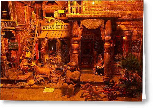 Wood Carving Greeting Cards - Tinkertown Greeting Card by Jeff  Swan