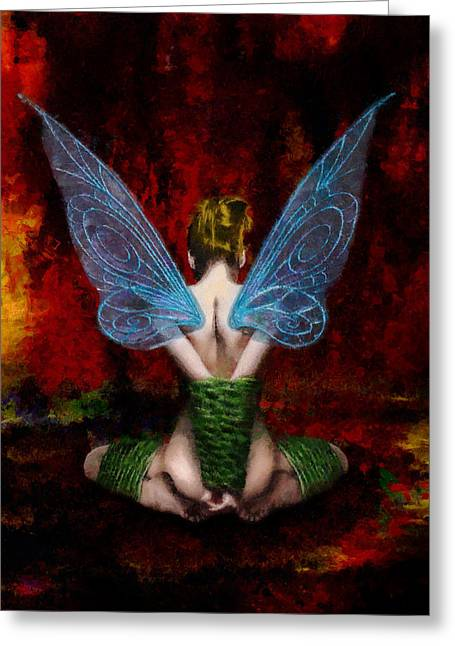 Recently Sold -  - Slaves Greeting Cards - Tinks Fetish Greeting Card by Christopher Lane